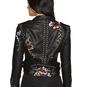 Blank NYC black detailed leather moto NWT